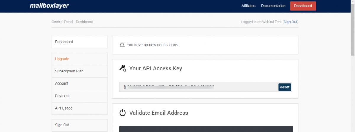 Account-Dashboard-mailboxlayer-API-222