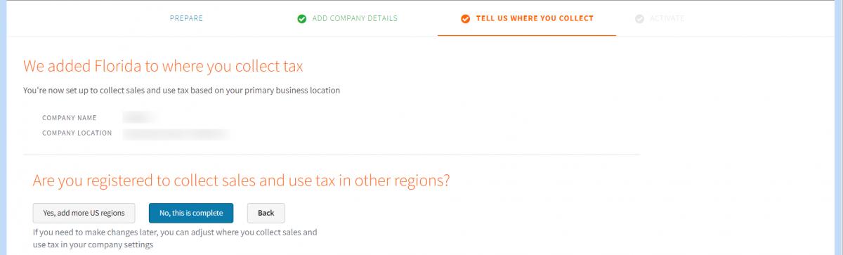 AvaTax-Webkul-Create-company-Webkul-Where-you-collect-Tax-collection-summary