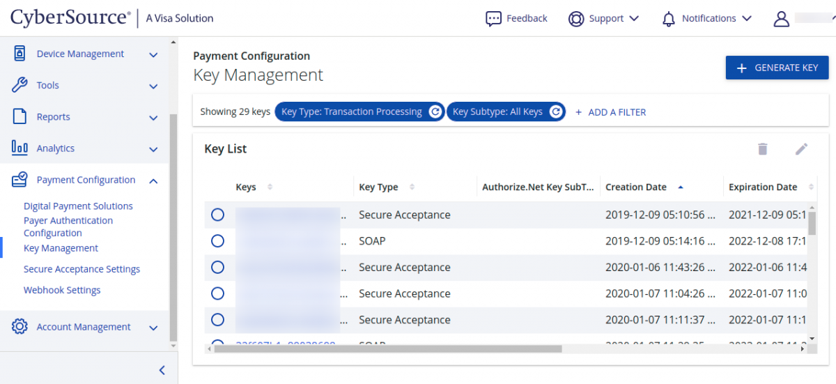 EBC-Payment-Configuration-Key-Management