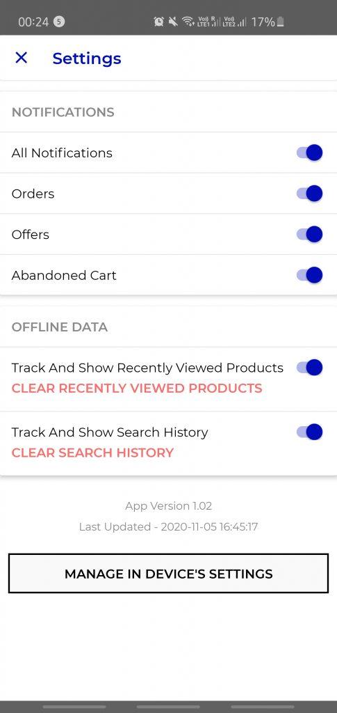 offline data