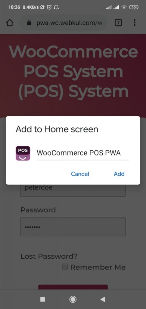 wooommerce-POS-PWA-app