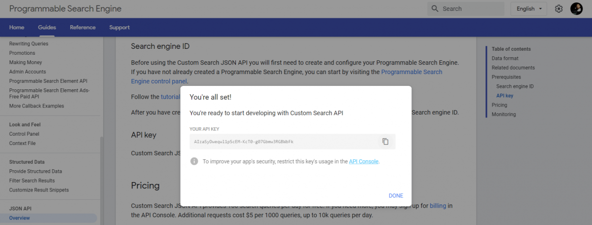 Custom-Search-JSON-API-Programmable-Search-Engine-API