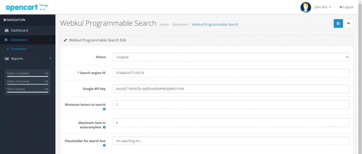 Webkul-google-custom-search