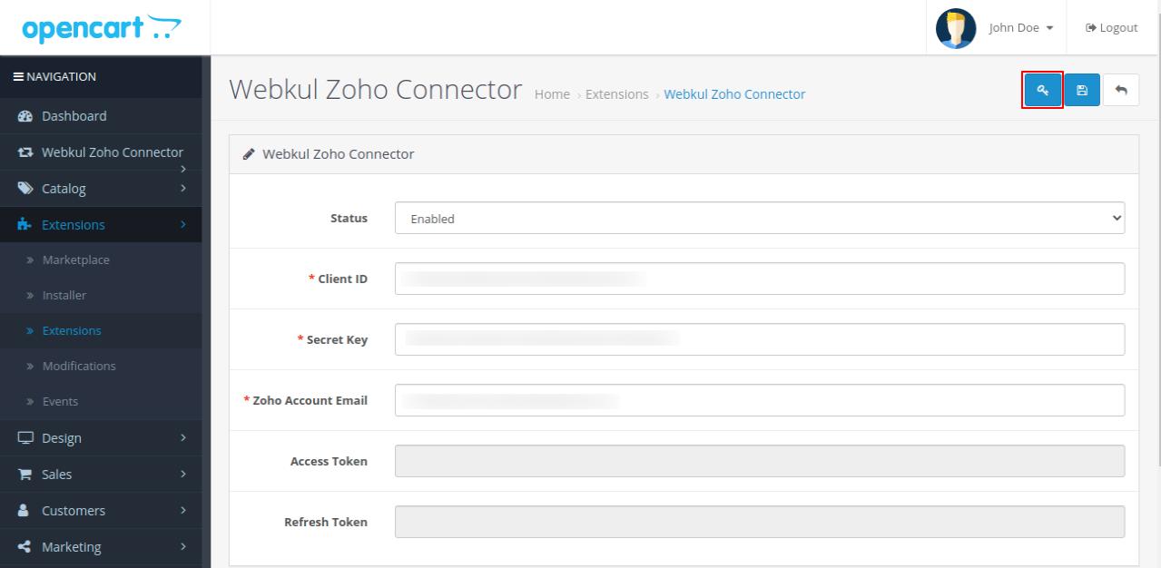 webkul-opencart-zoho-connector-admin-configurations-key-option-visibility