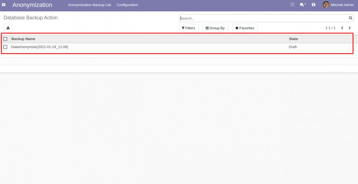 Odoo Database Anonymization