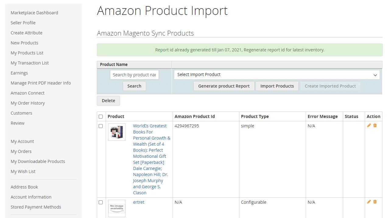 Amazon-Product-Import