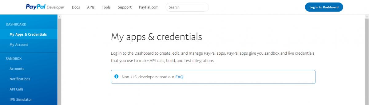 Applications-PayPal-Developer
