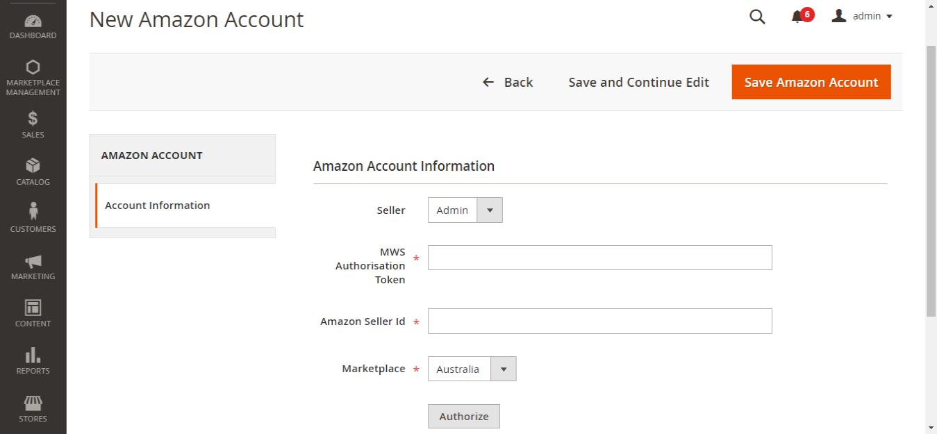 New-Amazon-Account-Magento-Admin