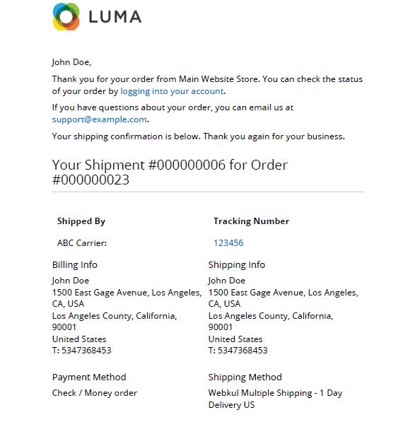 Webkul-Multi-shipping-methods-customer-notification