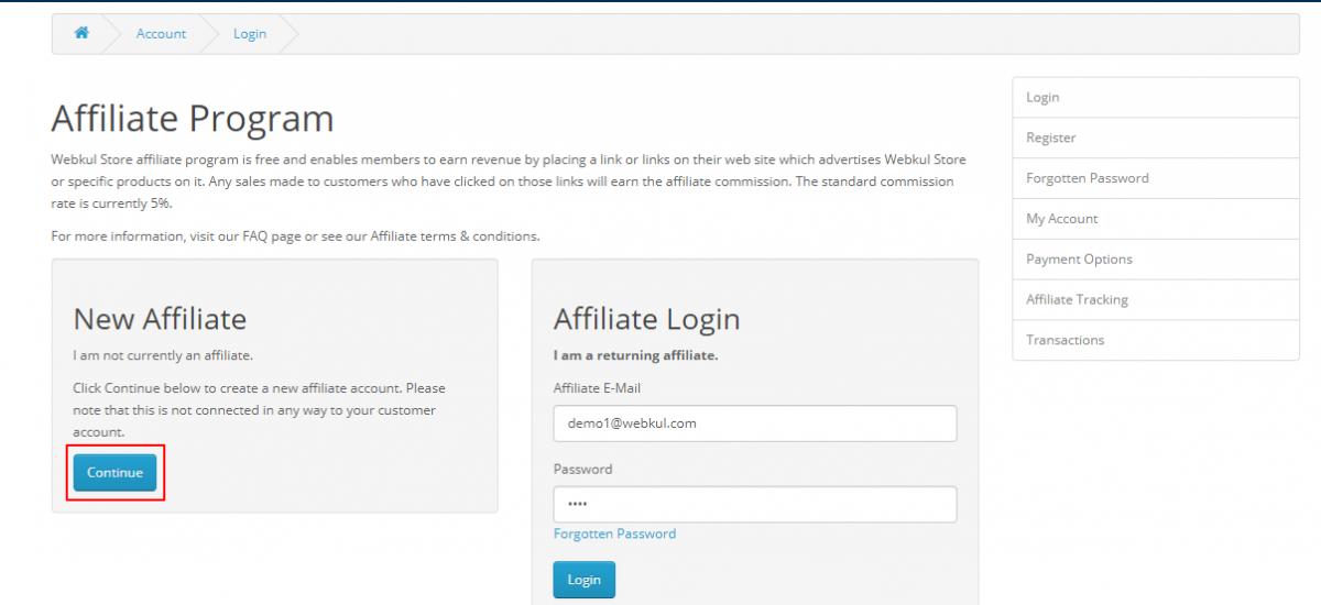 Affiliate-register