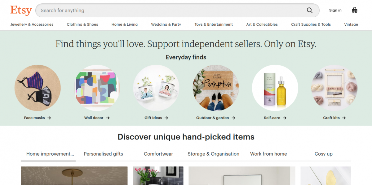 Etsy Marketplace to Explore Products