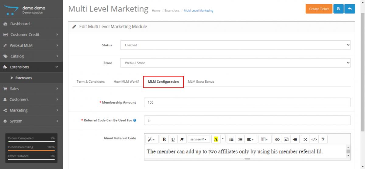webkul-opencart-multi-level-marketing-admin-module-config