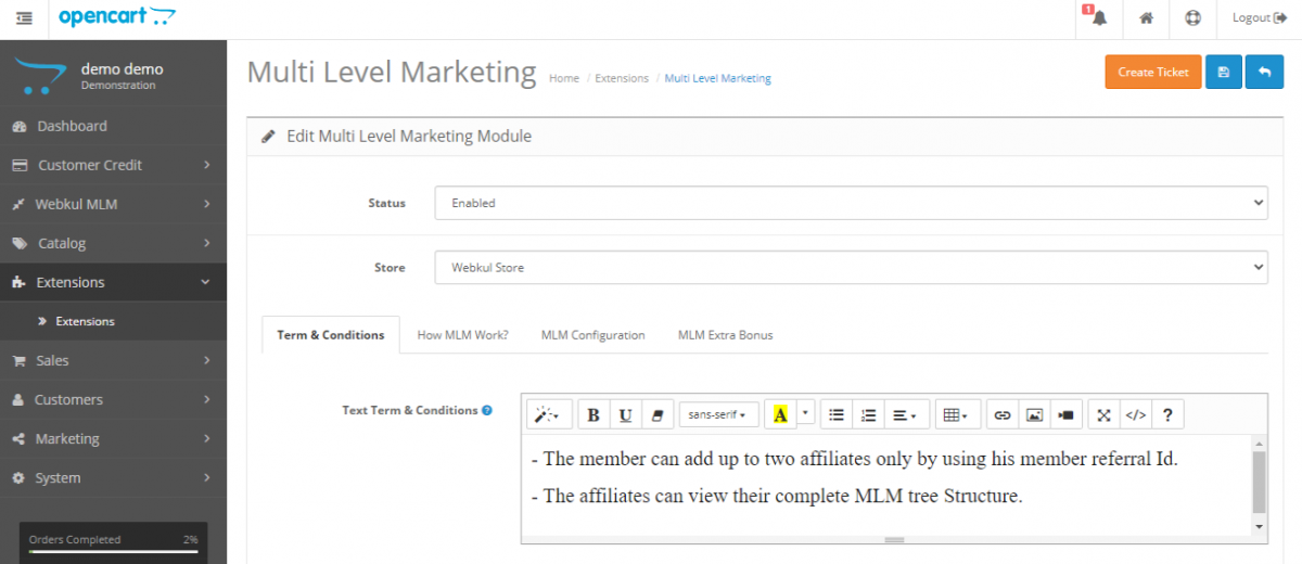 webkul-opencart-multi-level-marketing-admin-terms-and-conditions