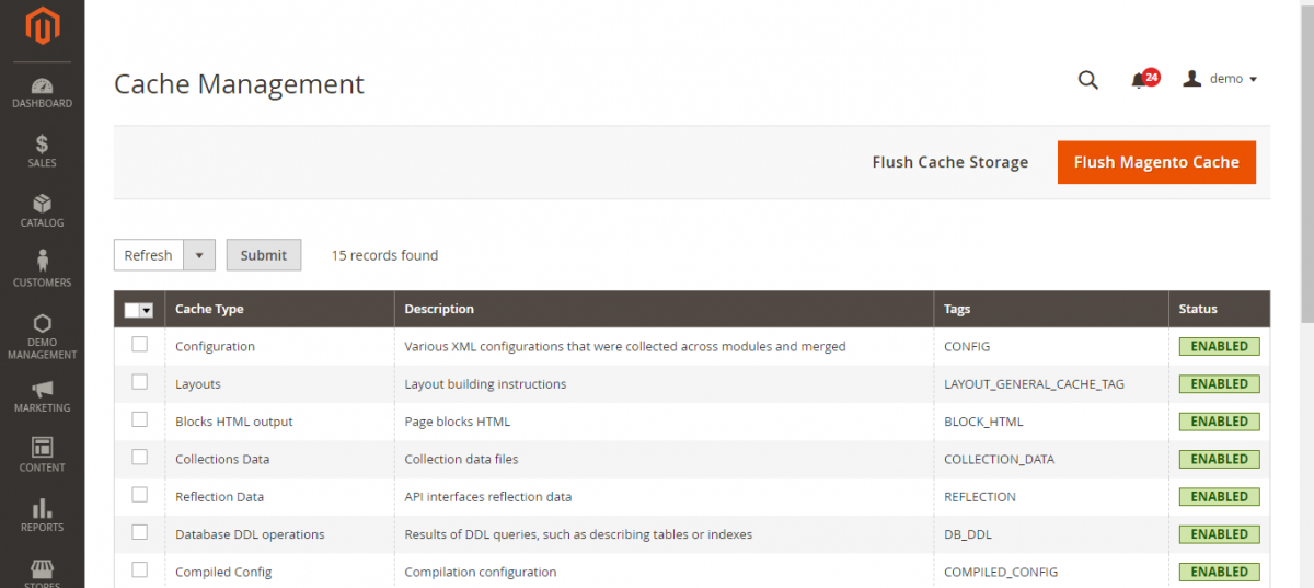 flush_cache_storgae