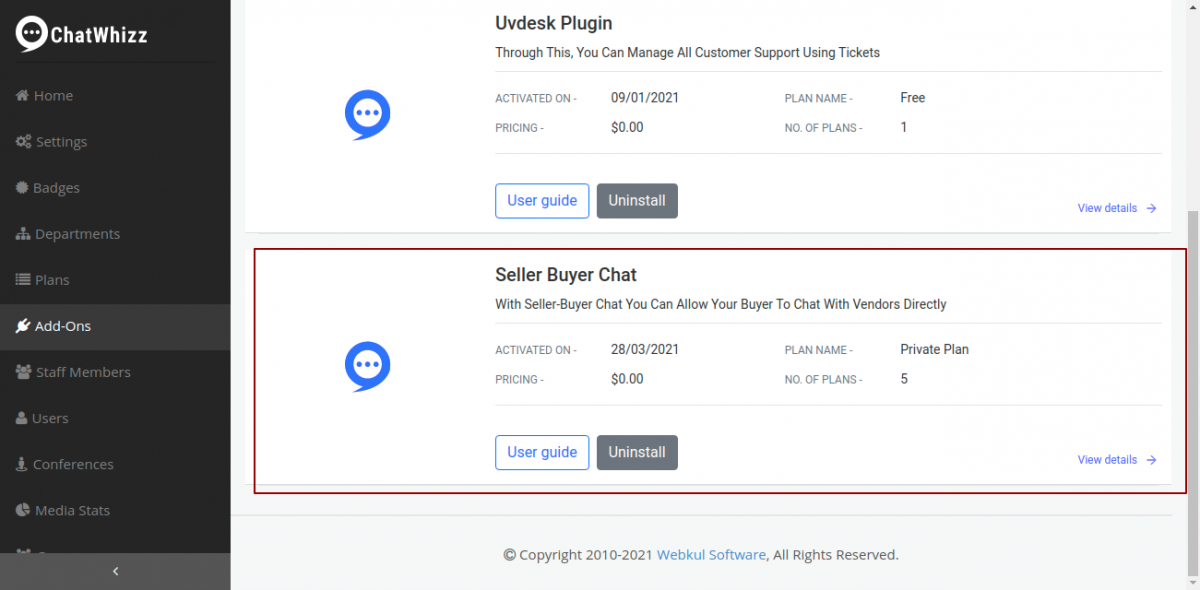 Seller-Buyer Chat Integration with ChatWhizz