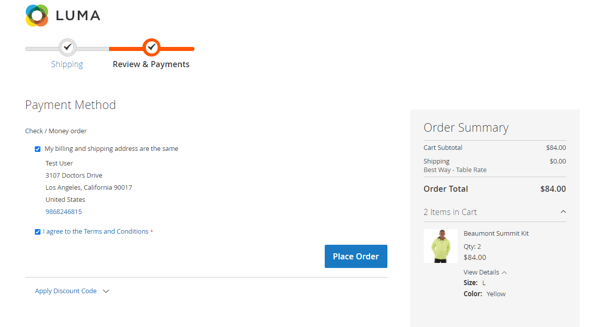 magento 2 buy now plugin place-order