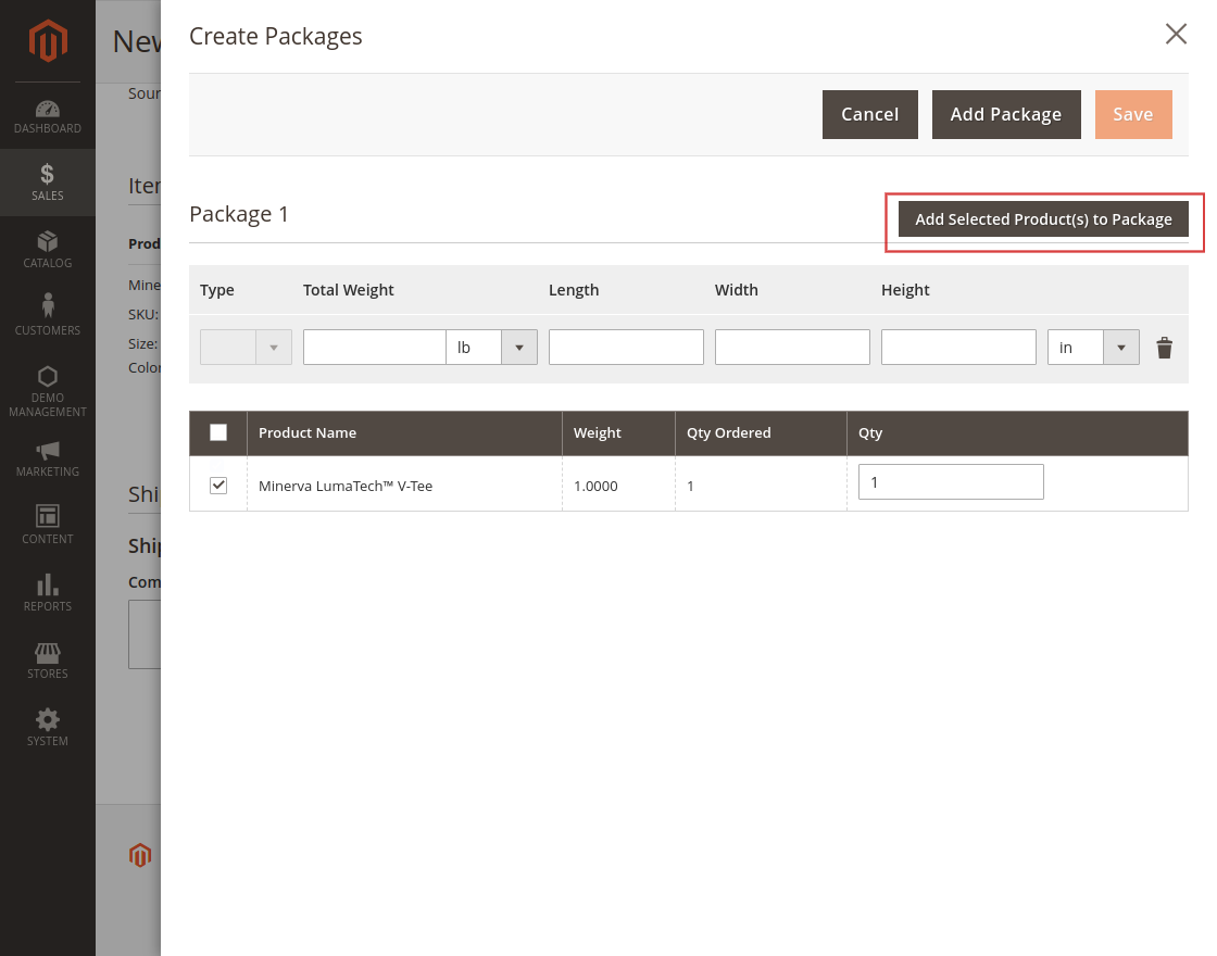 Shipping labelSMSA Shipping for Magento 2 Multi-Vendor