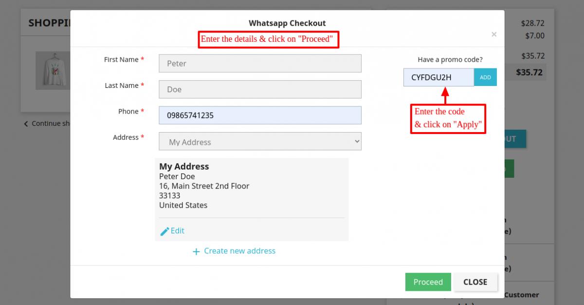 buy product using WhatsApp