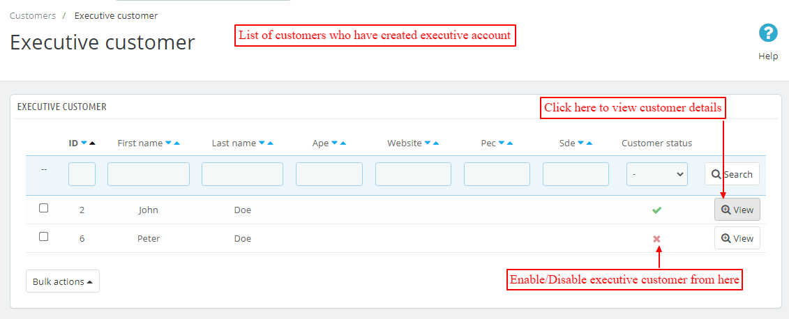 executice customers