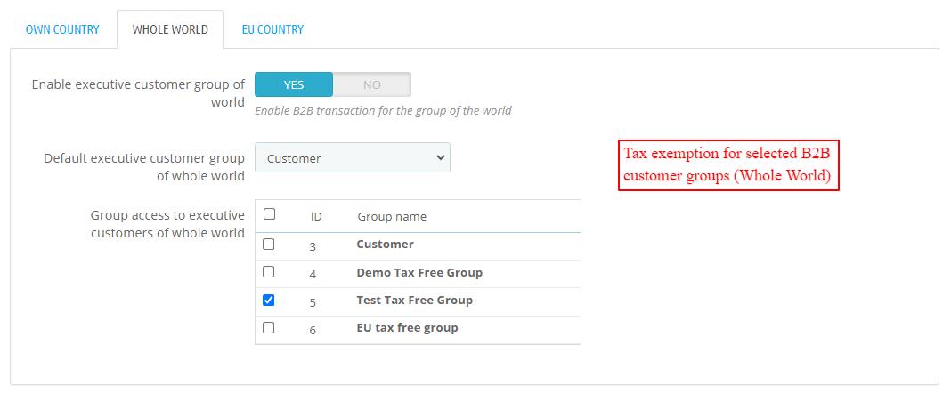 B2B invoicing configuration