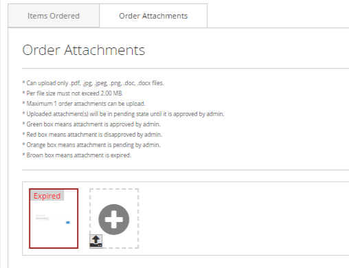 Expired Attachment marketplace order attachments