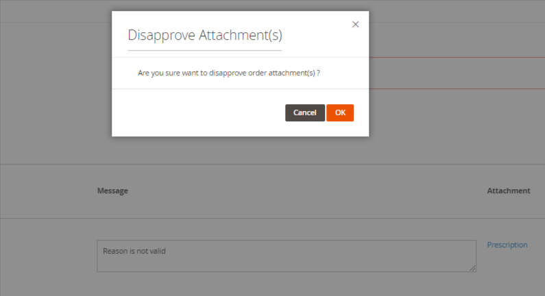 Disapprove marketplace order attachments