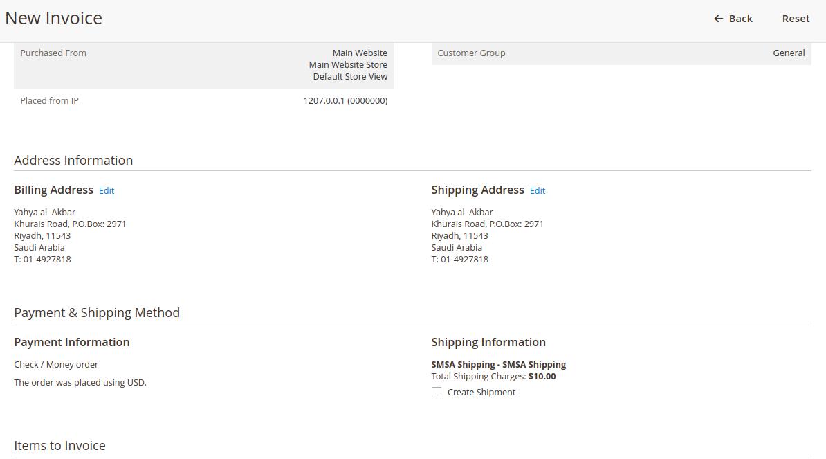 Invoice-SMSA Shipping for Magento 2 Multi-Vendor