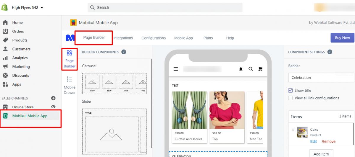 Shopify Mobikul Mobile Page Builder App