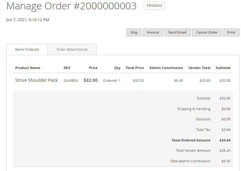 Magento 2 marketplace order attachments