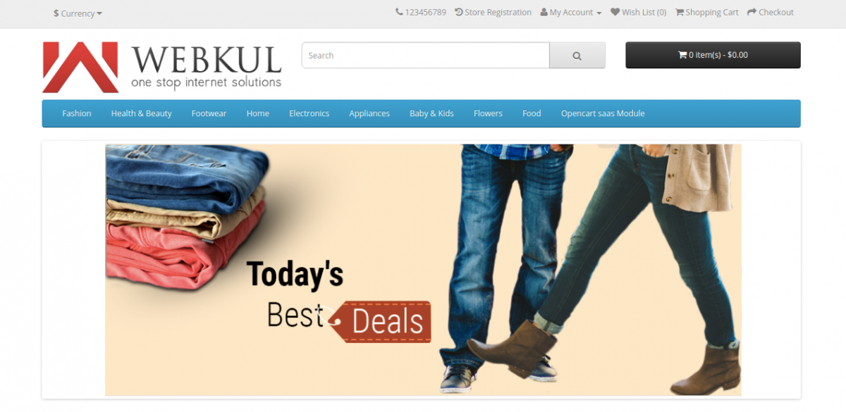 Webkul front end-Multi Company SaaS Extension for OpenCart