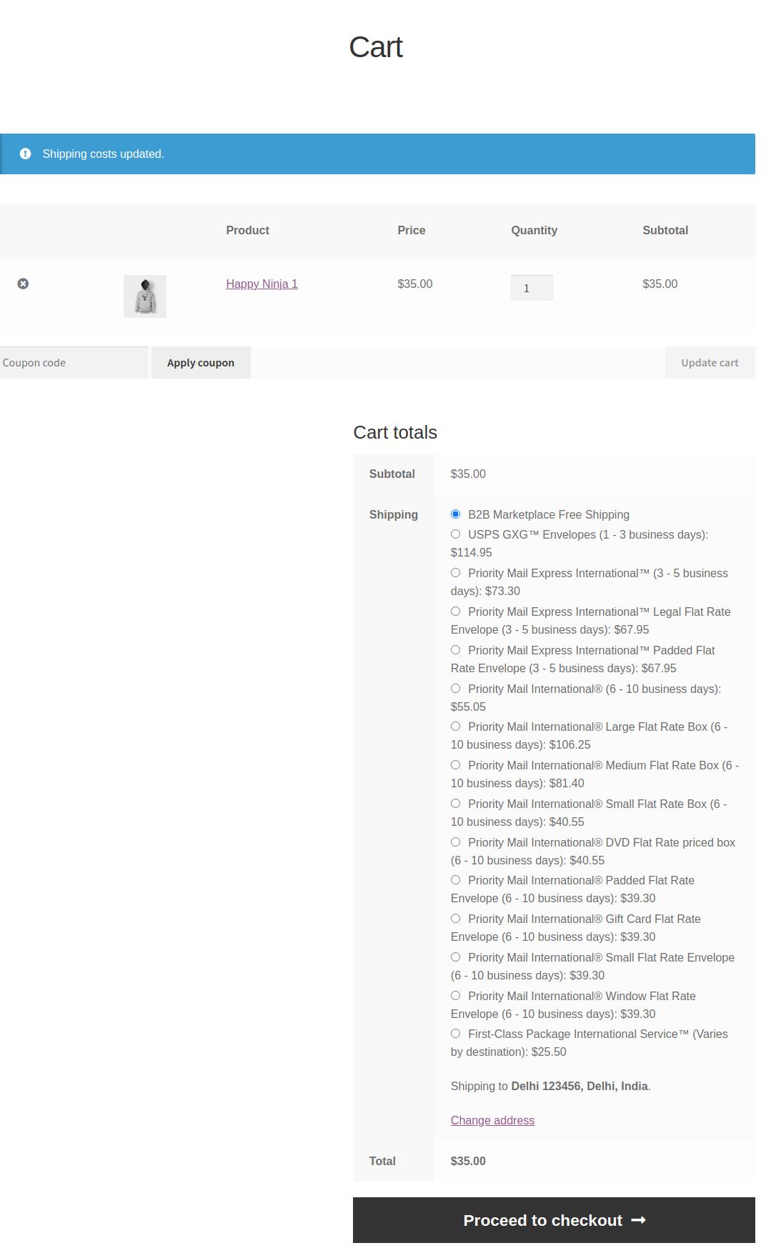 B2B USPS shipping for WooCommerce Marketplace-Cart-–-WooComm