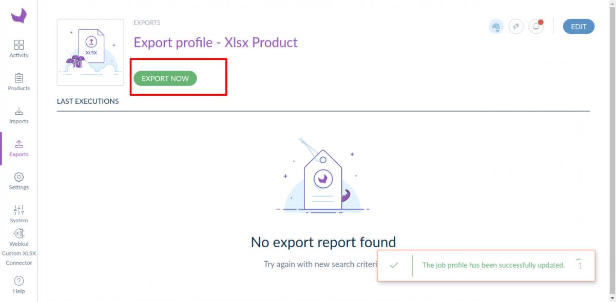 Export-profile-Xlsx-Product-Show