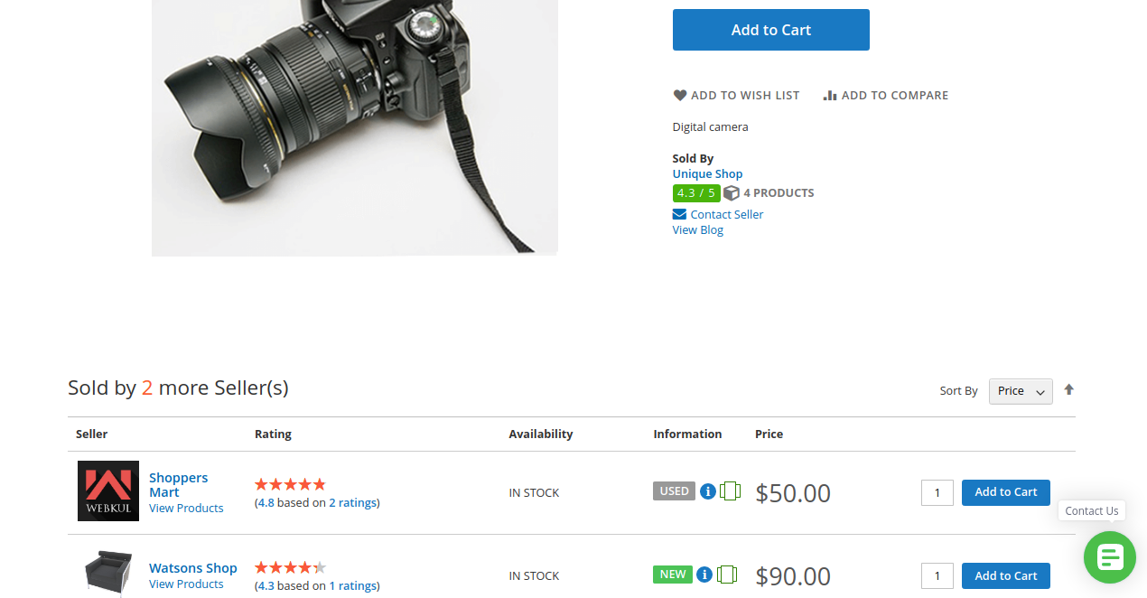 Magento-2-seller-price-comparision