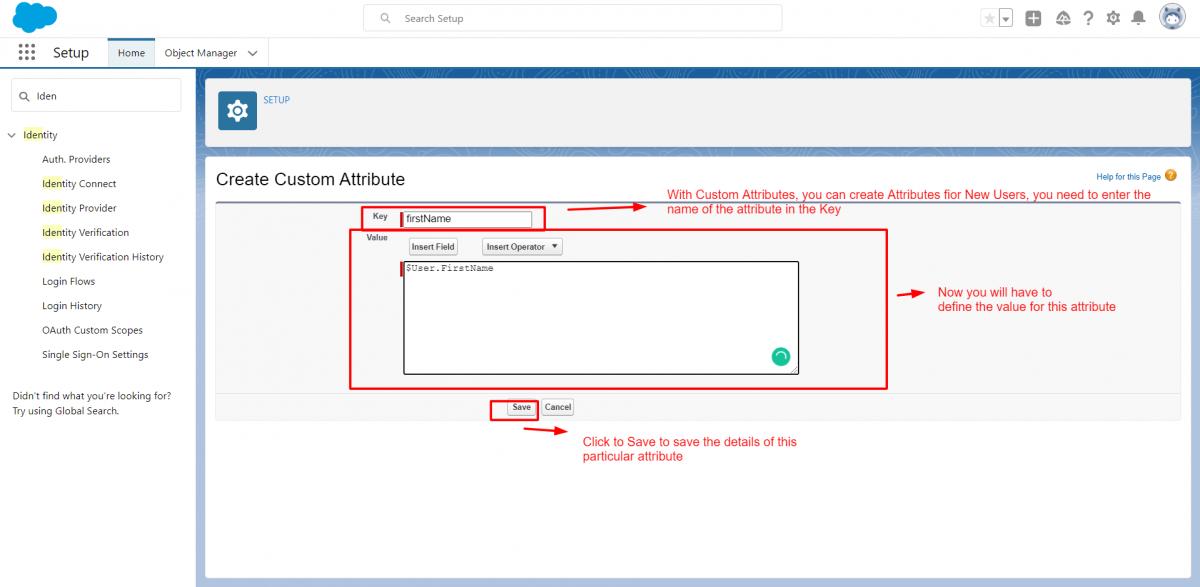 Create Custom Attributes
