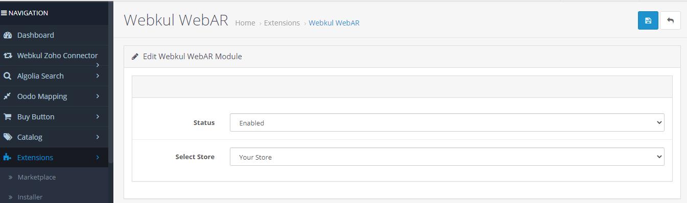 Webkul-WebAR-enabled