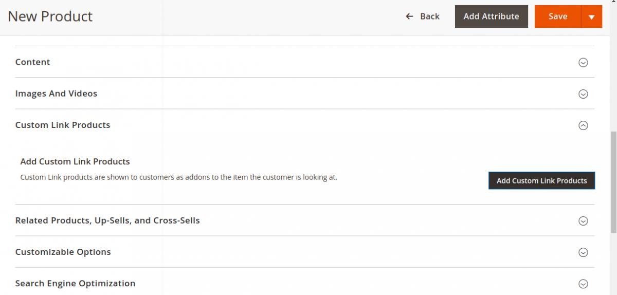 Custom Link Products Tab