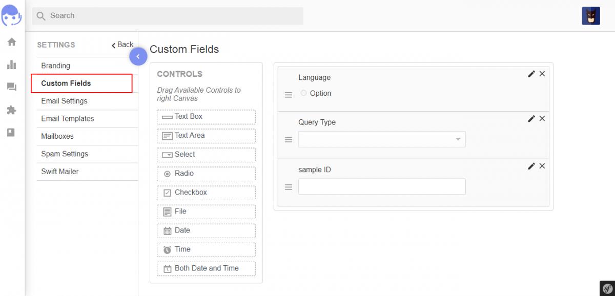 Custom field for UVdesk