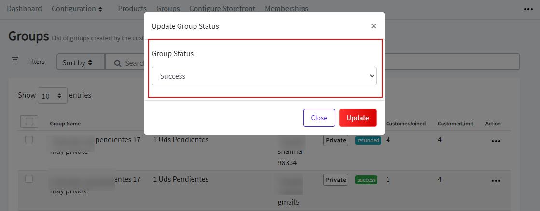Group status