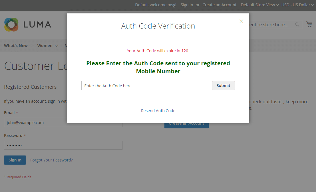two-factor-authentication-auth-code-amazon clone in magento 2