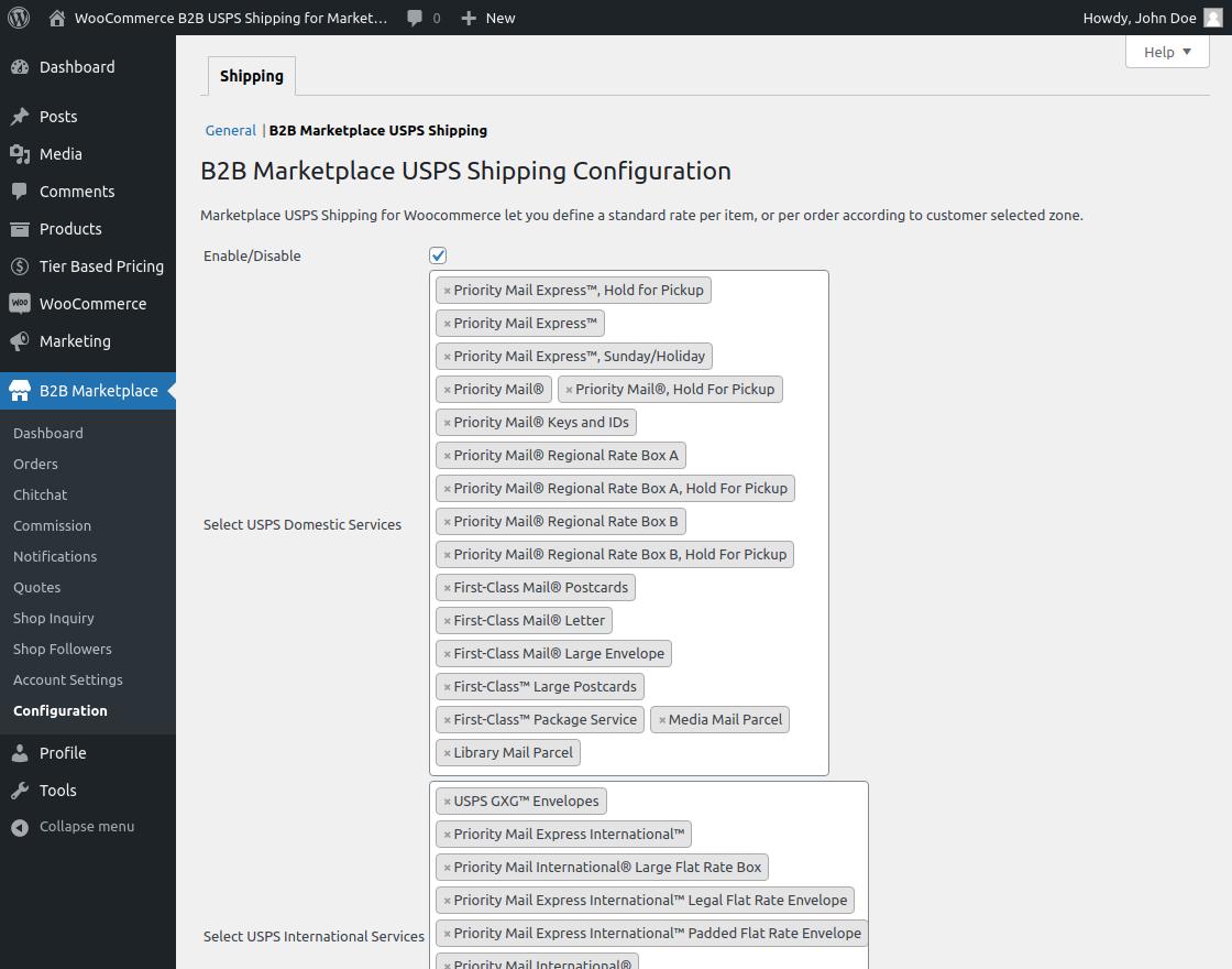 B2B USPS shipping for WooCommerce Marketplace-1