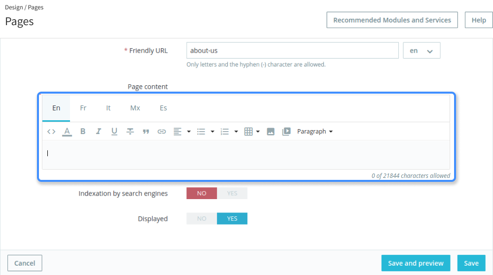add helpdesk contact from to a cms page using embed code