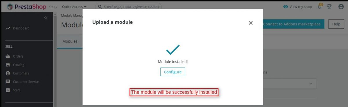 Prestashop Product Auction module installed successfully