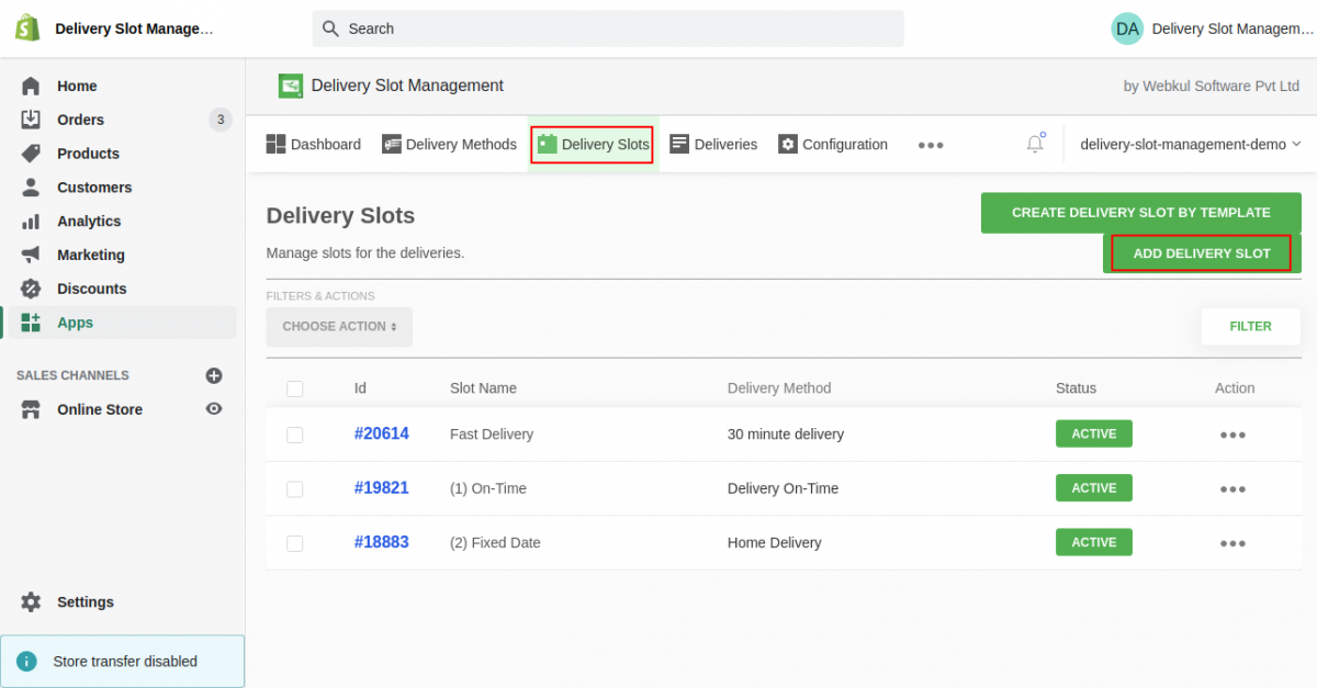 delivery point management application - delivery point