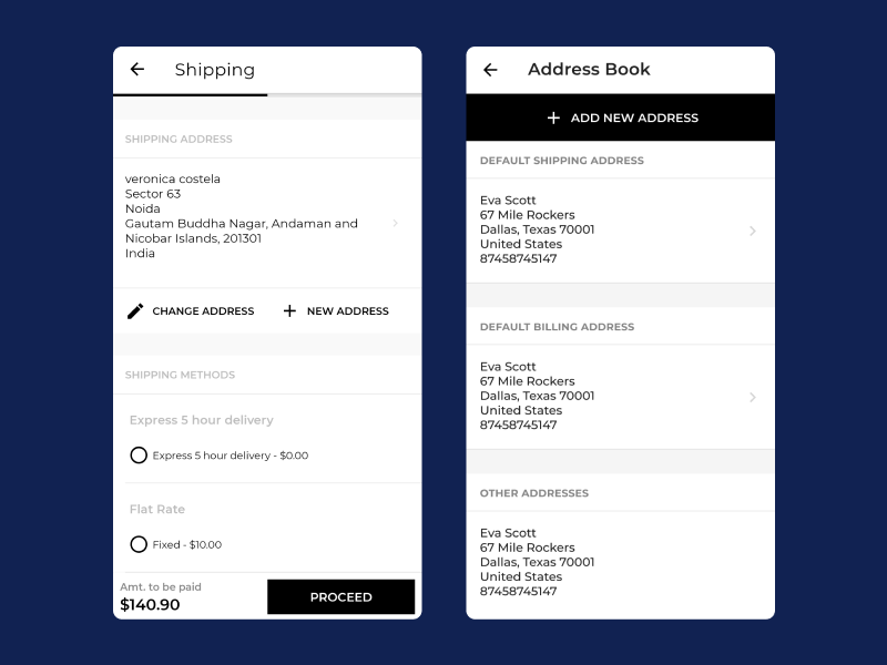 address-book-mobile-checkout-experience
