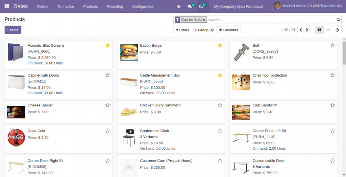 Mark products as favorites at Odoo 15