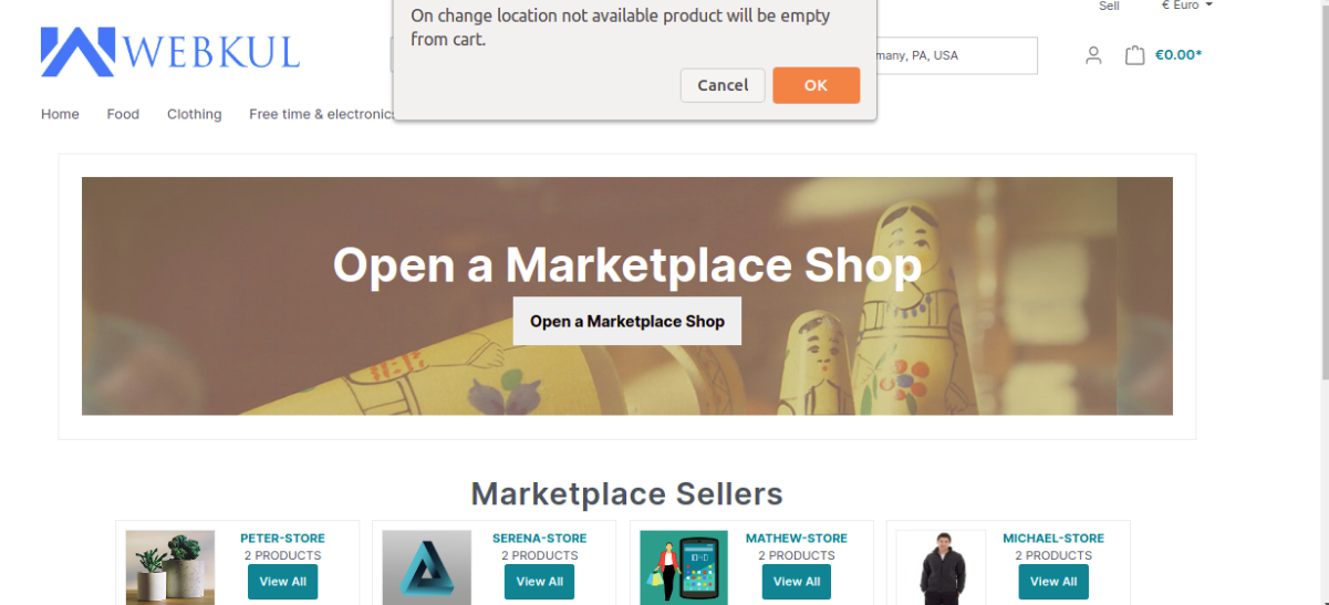 change location product availability