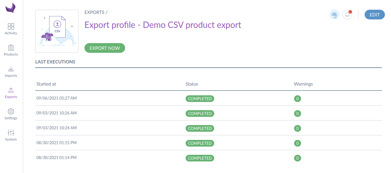 CSV-Product-export