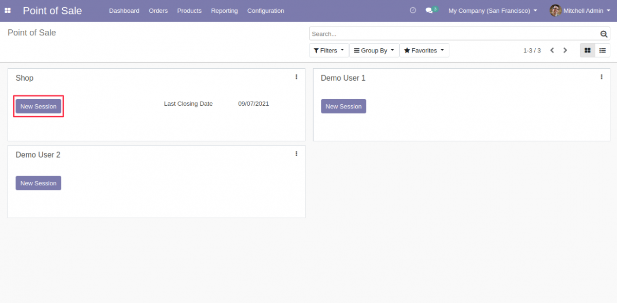 Start the POS session to check Odoo POS Product Details.