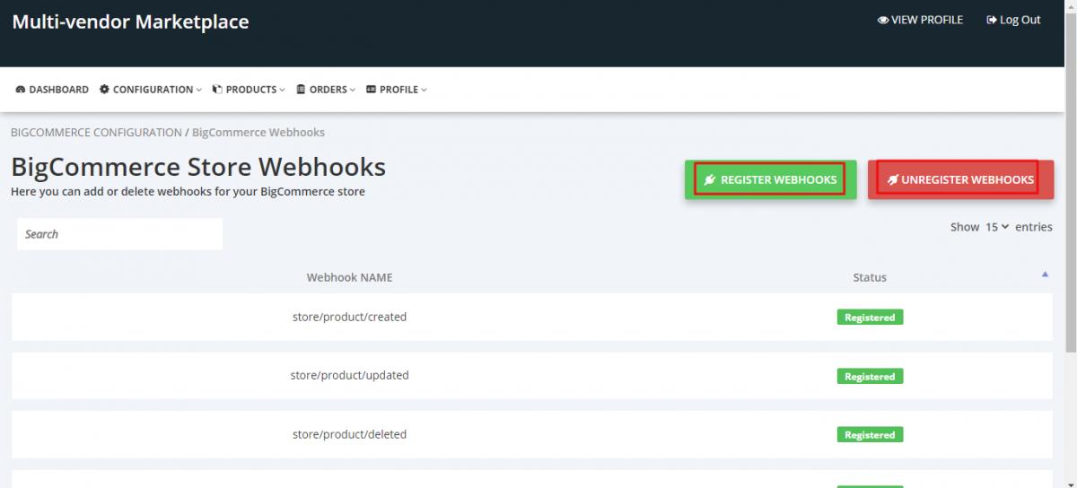 register webhook