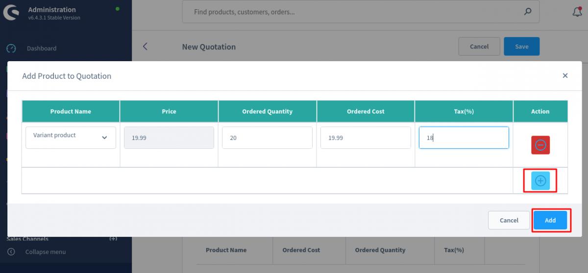 Shopware6-PO-Add-Product-Popup   Purchase Order for Shopware 6